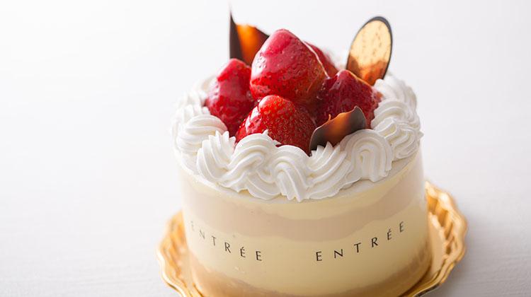 苺の生デコレーションケーキ4号