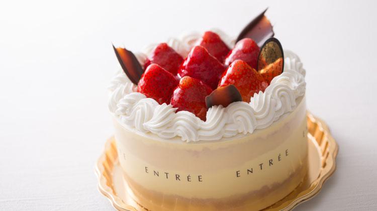 苺の生デコレーションケーキ5号